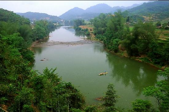 Ky Cung River Valley. Northeast Vietnam
