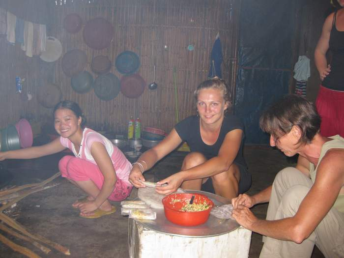 dinner preparing in homestay